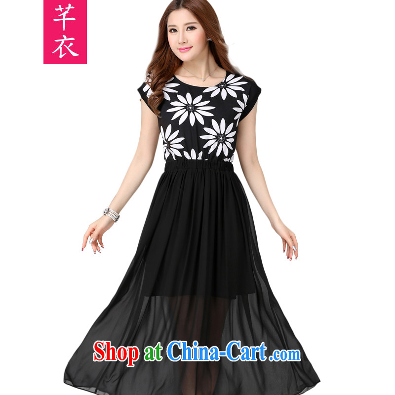 Constitution Yi XL women dress in Europe and America, antique, stamp duty snow woven skirts 2015 new thick mm oak rib waist-goddess, a black large XL 5 190 - 200 jack