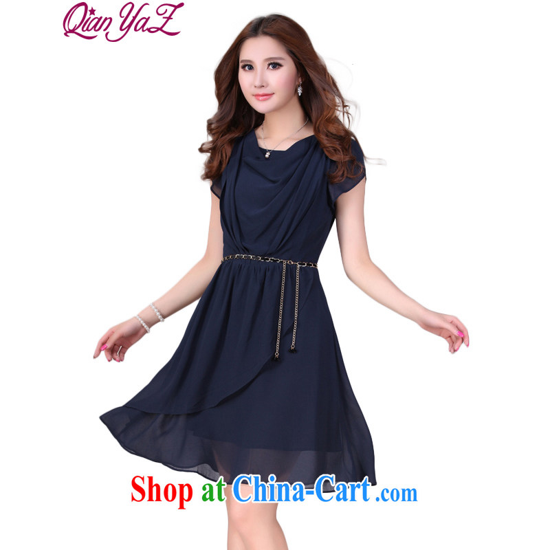Constitution, colorful XL women 2015 summer new, multi-layer snow woven ladies dress mm thick and fat solid-colored romantic manual creases only short skirts blue XL 4 165 - 180 jack