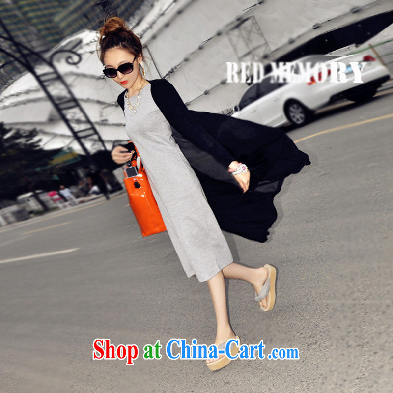 surplus to the Code's Autumn with thick mm long Web yarn-T-shirt thick sister long-sleeved Air Conditioning T-shirt ultra-light shawl cardigan jacket, a xxxxl black XXXL - manufacturers have been made