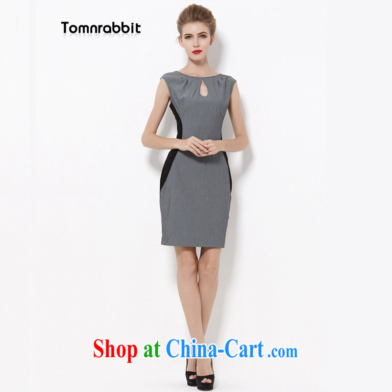 2014 Tomnrabbit thick sister new Europe and indeed the XL female professional cotton Silk Dresses video thin summer B 14 260 photo color XL