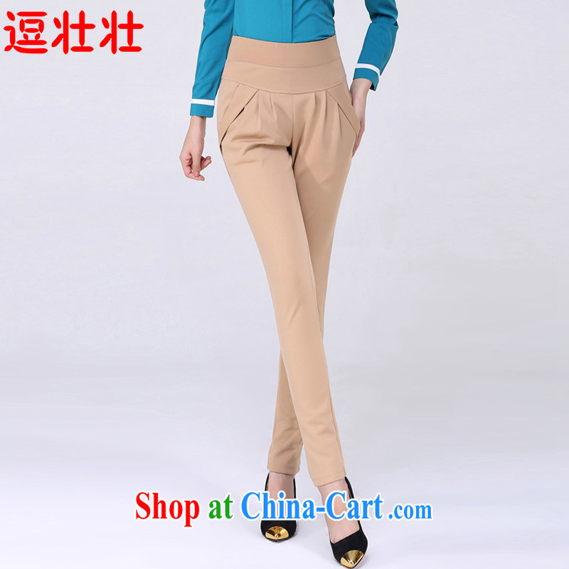 and Chuang Chuang 2015 spring and summer thick girls with video skinny foot loose pants thick sister larger female 6111 light card its color S