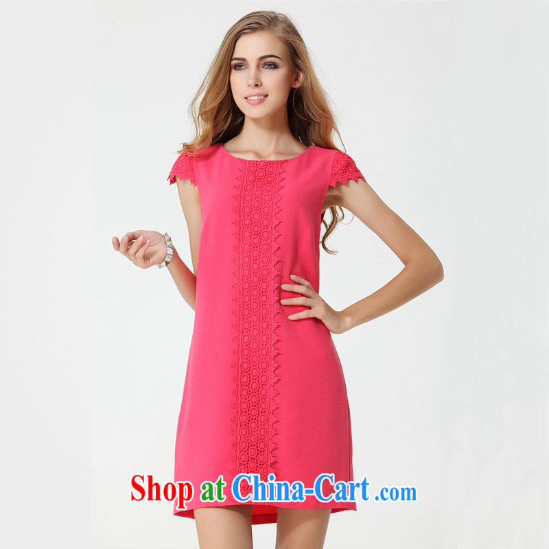 The Code women's clothing dresses thick sister summer red XXXL
