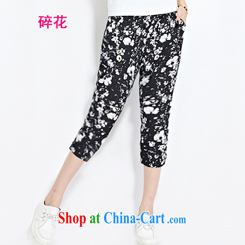 ? collective counters are, indeed the XL female 77 pants thick mm sister summer new Korean video thin stamp snow woven, loose trousers, trouser press small pieces 5 XL for 140 - 160 jack