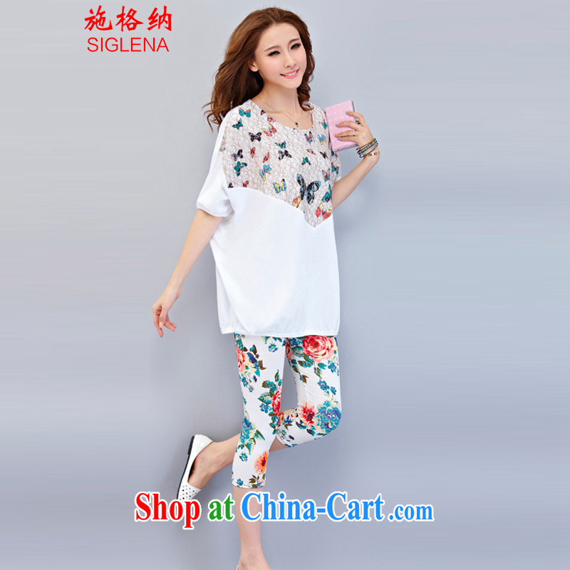 Michael Scott, The 2015 Code women cotton loose T-shirt and indeed intensify thick mm summer sport and leisure suite 9521 white XXXXL