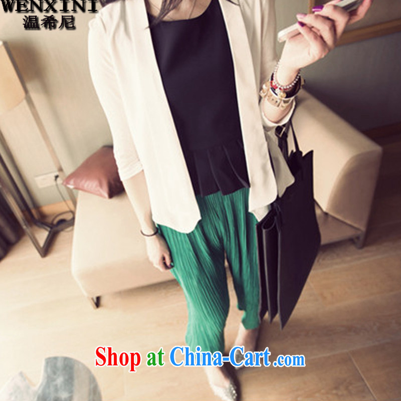 Wen The Greek, mm thick spring 2015 the code casual female snow woven 100 hem pants and indeed increase code 200 Jack video thin Harlan pants girls pants ZK 03 green XXXXXXL