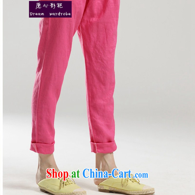 would like to heart Color cabinet 2014 Spring Summer cotton Ma castor pants loose the code pant 79 in Korean leisure pregnant women, and abdominal trouser press P 1389 the red XL