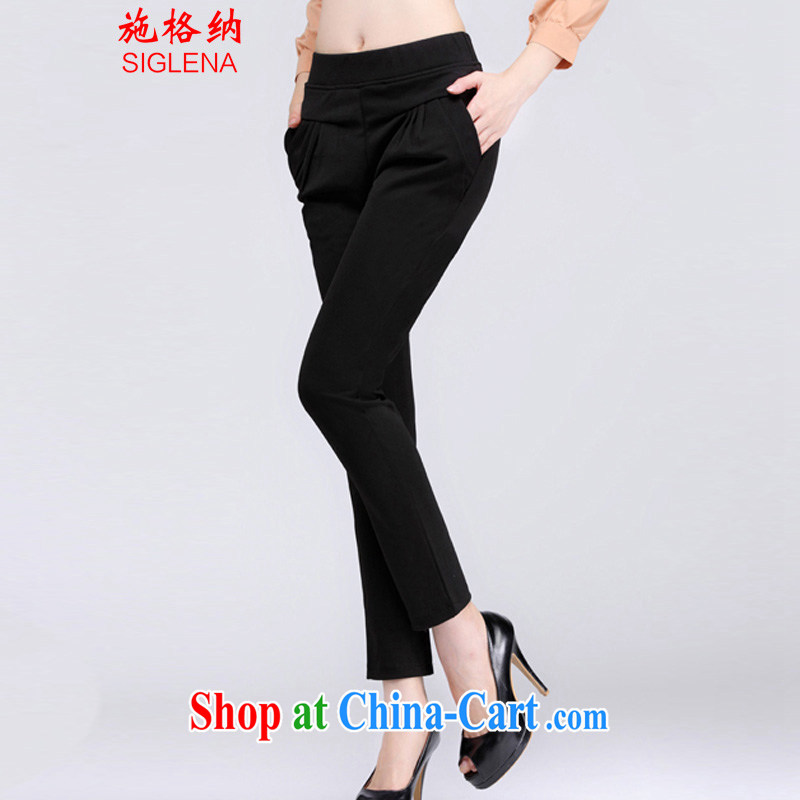 The rate of fall 2014 new, indeed the XL thick MM commuter cultivation, trouser press the code quality female trousers casual women pants 8835 black XXXL