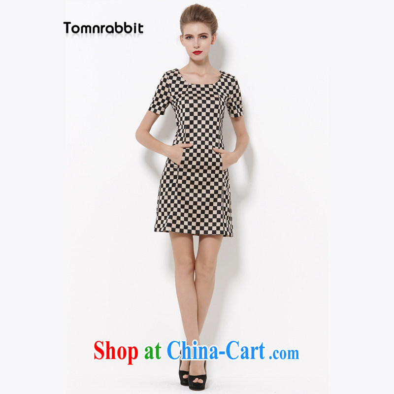 2014 Tomnrabbit new Europe and indeed the XL women dress thick sister summer B 14 290 photo color S