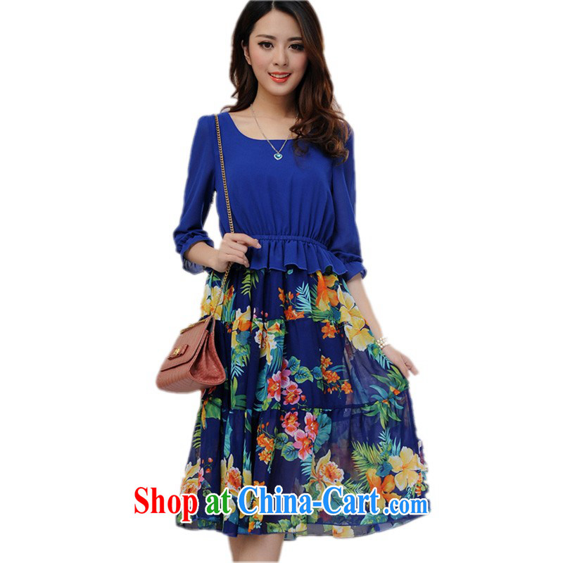 The package mail 2015 the fat girl decor, beach skirts bohemian floral skirt 7 snow cuff woven dresses larger graphics thin skirt mm thick blue skirt spend 4 XL approximately 150 - 165 jack