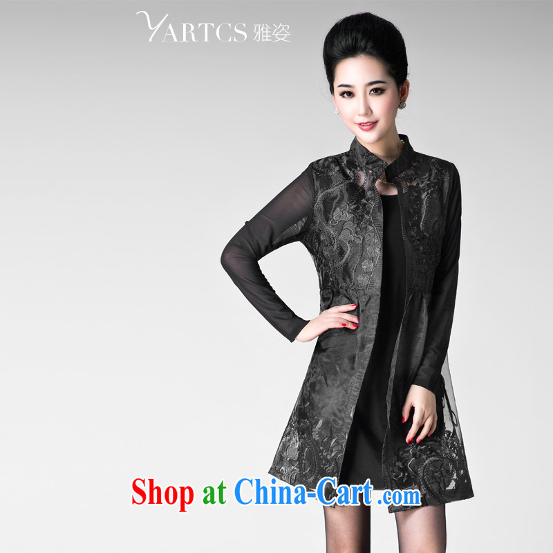 And Jacob _yartcs_ 2014 summer new, larger female thick sister European root by leave of two garment A 1523 black 5 XL
