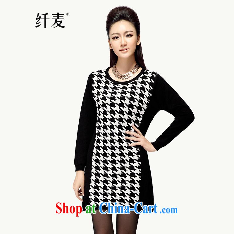 Slim, Mr Big, women fall 2014 with new thick mm video thin beauty sweater-coat skirt MS - C - 14 L 1941 black 3 XL