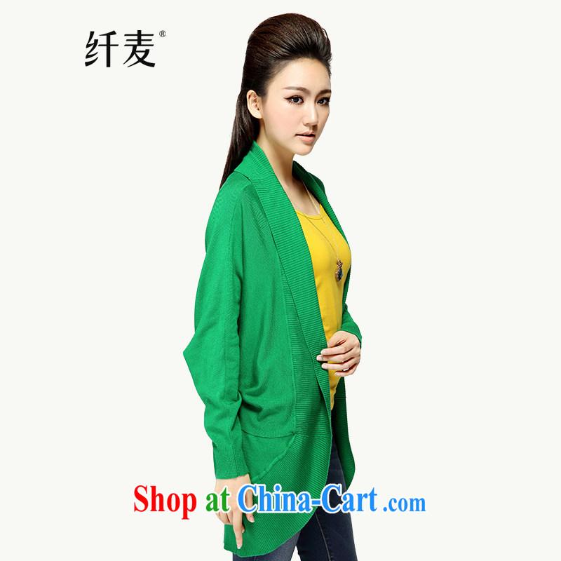 Former Yugoslavia, Mr Big, women fall 2014 installation of new, thick mm stylish cardigan knit sweater jacket MS - C - 14 L 2290 green 2 XL