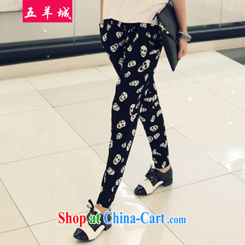 Five Rams City in Europe and by 2015 the code summer skull mm thick trousers children and indeed intensify beauty video skinny foot trousers thick sister spring, black pants XXXL/165 - 190 jack