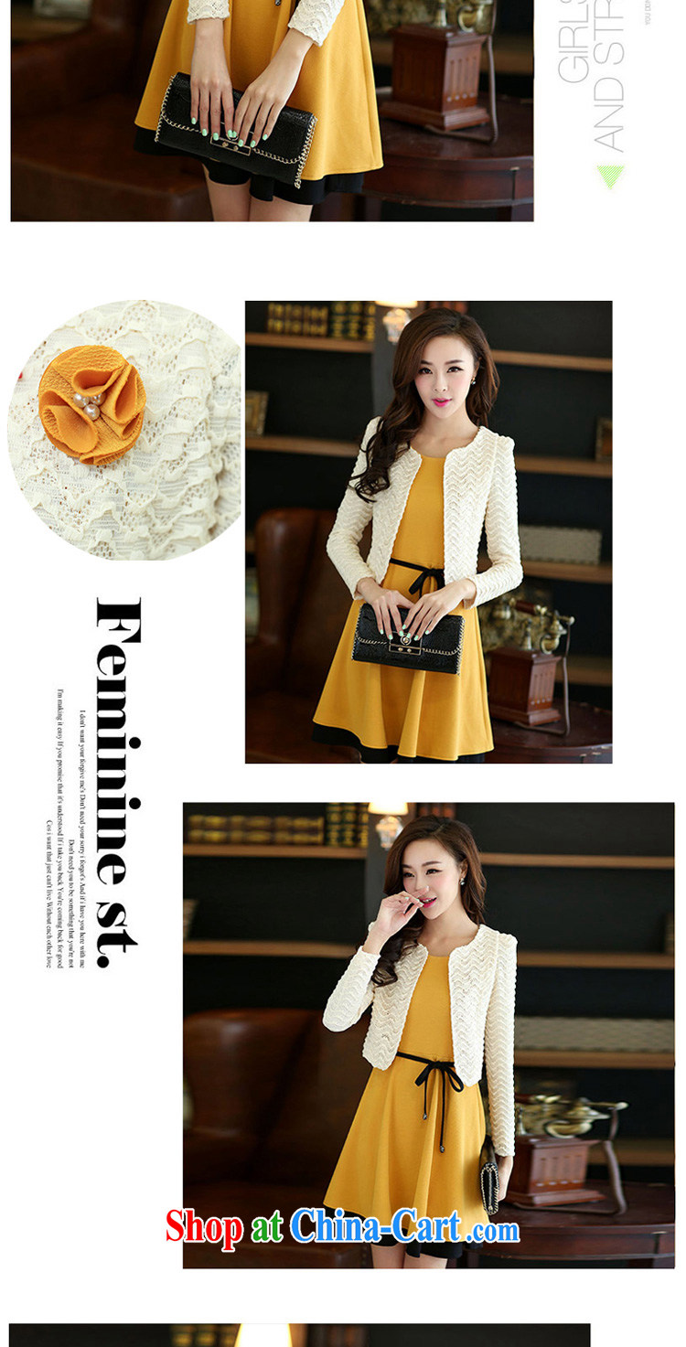 flower girl Isabelle autumn 2014 the new Korean Temperament in cultivating long singlet dress code the two-piece dresses female D 6043 yellow XXXL pictures, price, brand platters! Elections are good character, the national distribution, so why buy now enjoy more preferential! Health