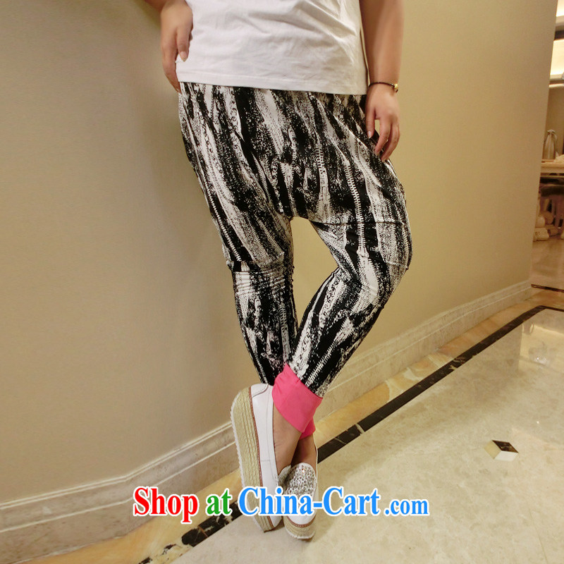 Drug addiction is the code women mm thick fall 2014 with new castor pants graphics thin Harlan pants 9912 black XL