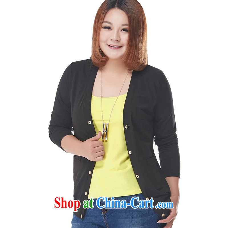 The Code ladies cotton cardigan jacket black 2XL