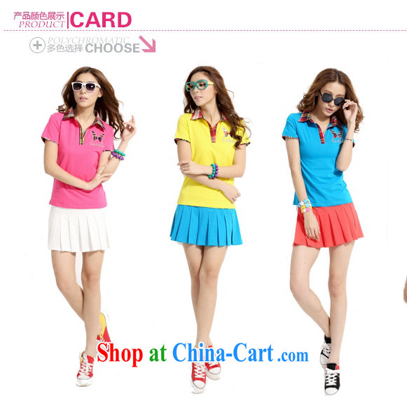 Blue Fox Summer New Korean Version Lapel Knocked Color Stamp Short Skirts Trousers Sport And