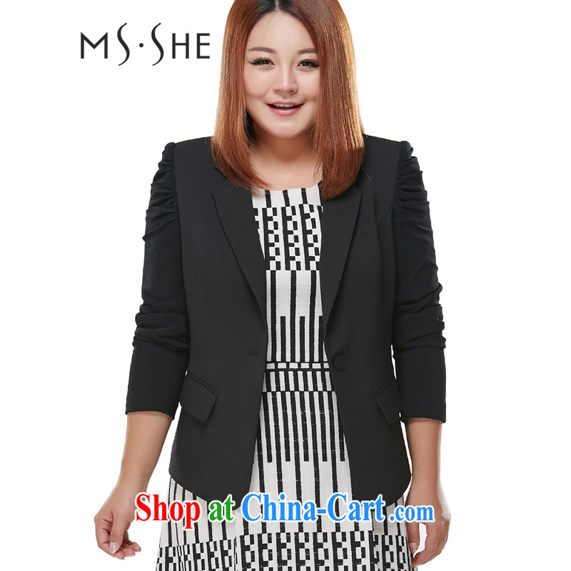 The MsShe Code women 2015 new spring lapel suits a kernel for the waist coat pre-sale 7491 black 6 XL - pre-sale 6.30 to the