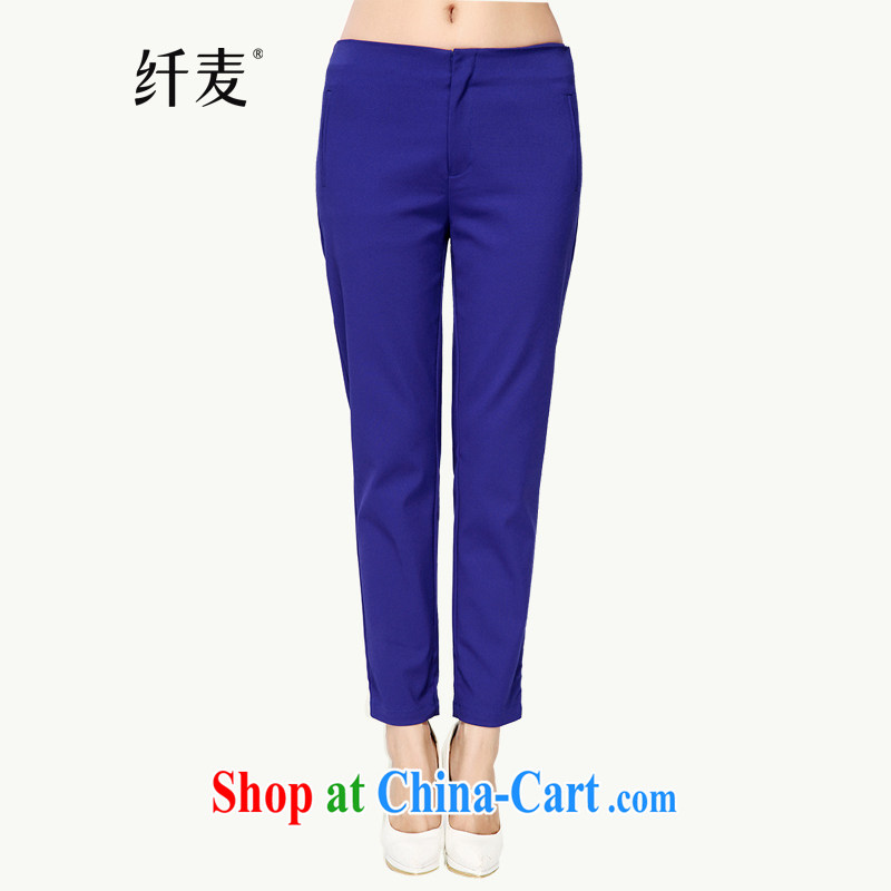 Slim, Mr Big, women fall 2014 with new thick mm stylish and simple graphics thin pants long pants cotton 43,226 blue 5 XL