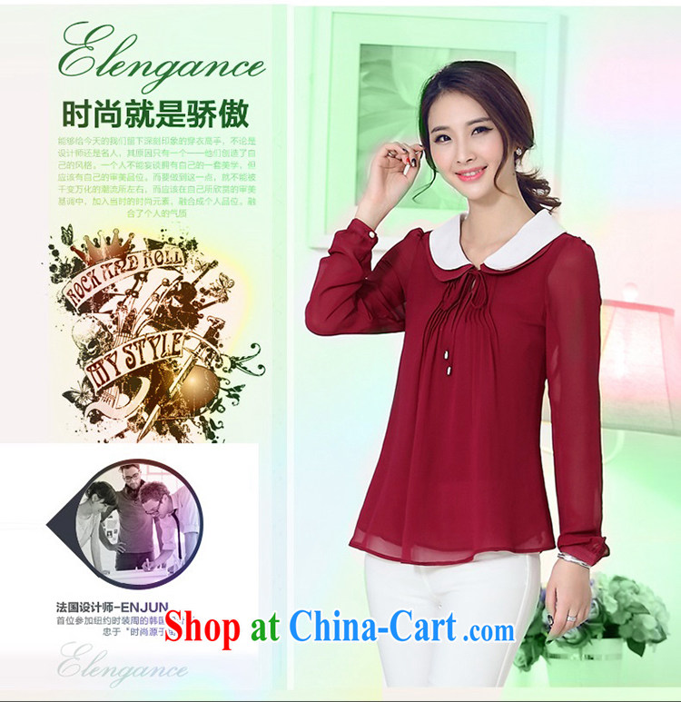 Shallow 2015 King, female spring new Snow woven shirts girls long-sleeved baby for thick, graphics thin, snow-woven shirts female S 1501 wine red 4 XL pictures, price, brand platters! Elections are good character, the national distribution, so why buy now enjoy more preferential! Health