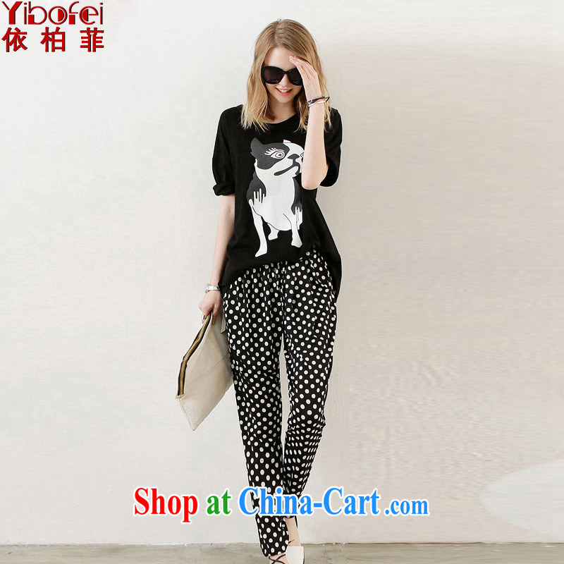 According to the Philippines and Europe 2014 new thick MM and indeed XL loose video thin sport and leisure, trouser press kit two-piece female Y 027 black XXXXXL