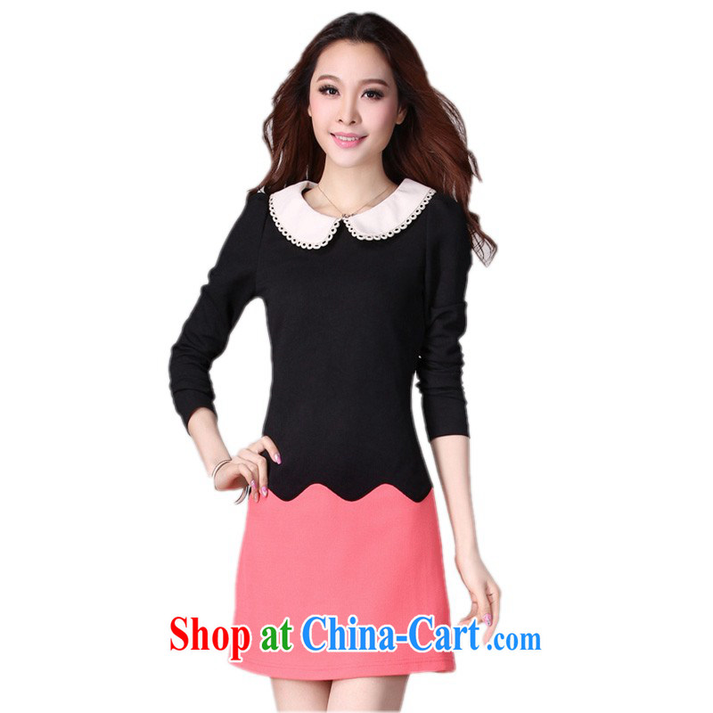The delivery package as soon as possible e-mail autumn 2014 the Korean spelling color beauty dresses and ventricular hypertrophy, ladies lace up collar long-sleeved hair is a red light, brassieres waist Data option code
