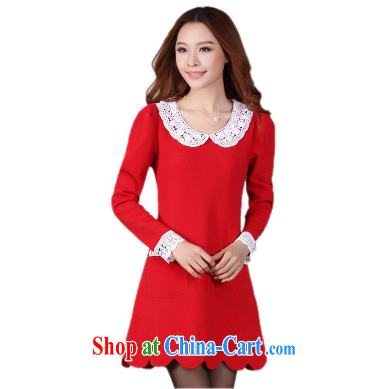 The delivery package mail as soon as possible, focusing on girls XL dresses fall 2014 with lace doll collar red skirts gross? wedding dress red please reference brassieres waist Data option code