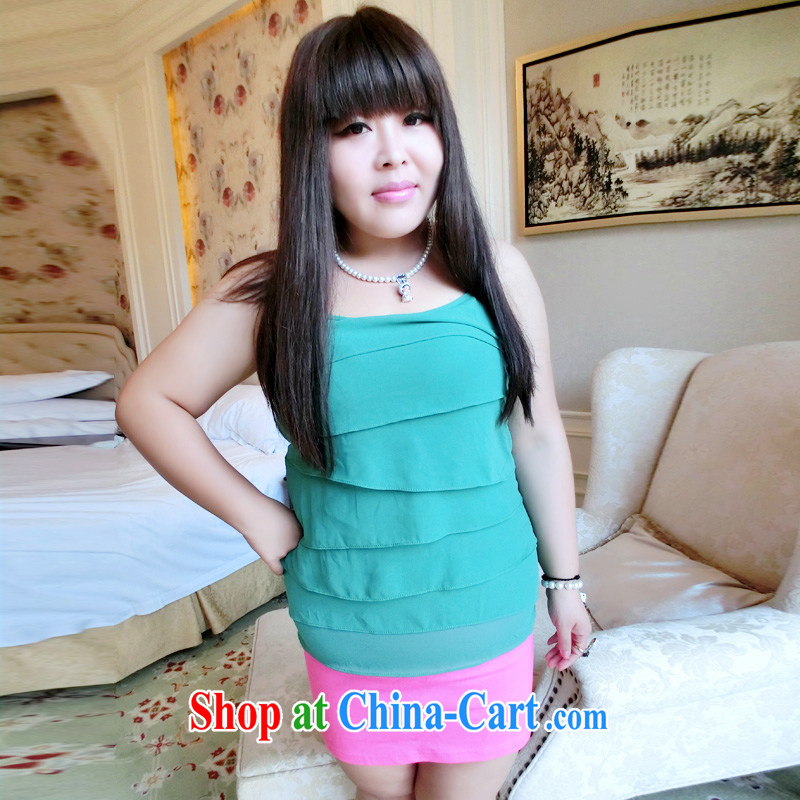 Drug addiction is the code women mm thick 2014 summer XL snow woven shirts straps vest video thin 2997 green XL