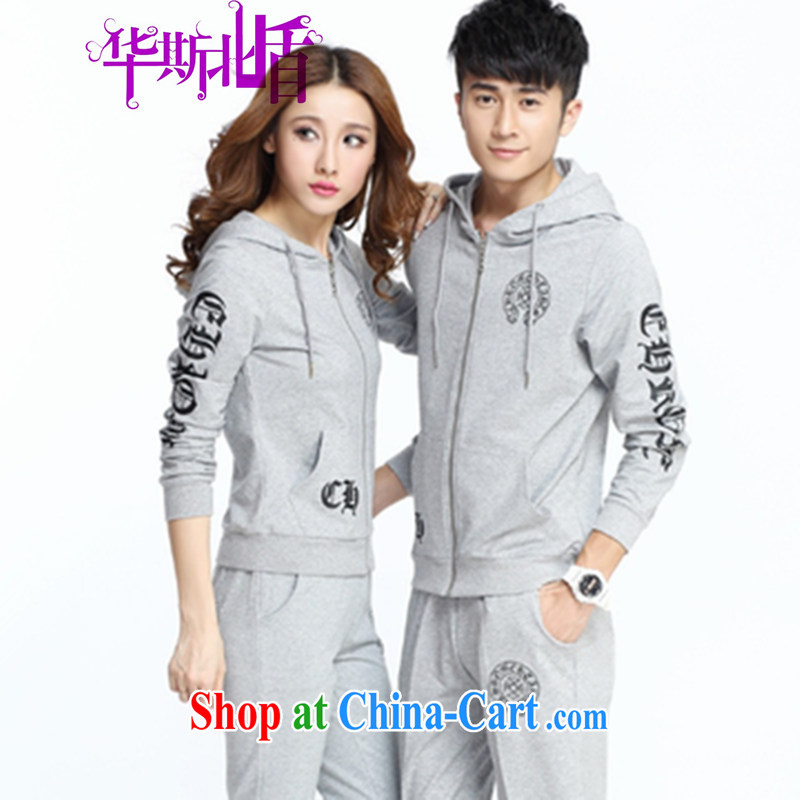Spring 2014 New Men's casual clothes women cultivating Korean uniforms women's clothing, clothing for couples campaign kit gray XXXL