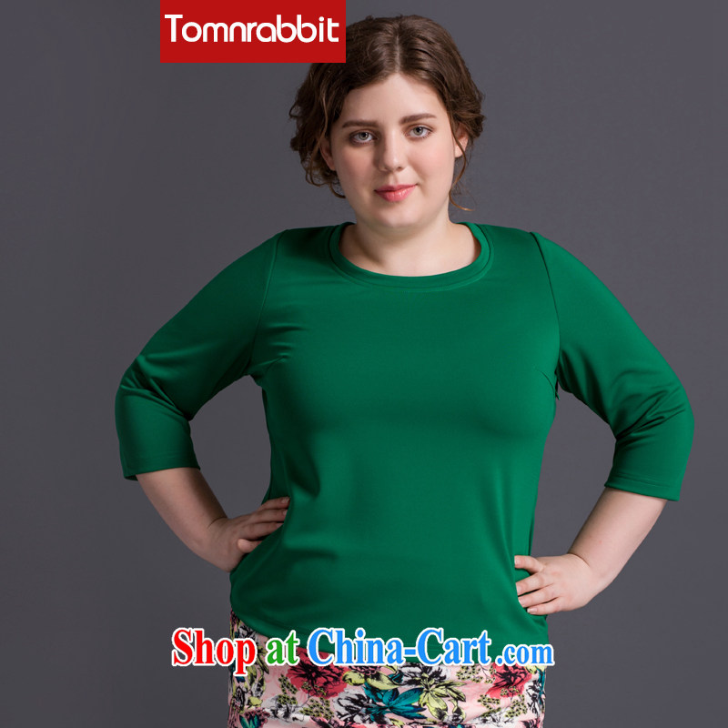 2014 Tomnrabbit fall in Europe and the new, and indeed increase, women with thick, female video thin, T shirt large green code XXXL
