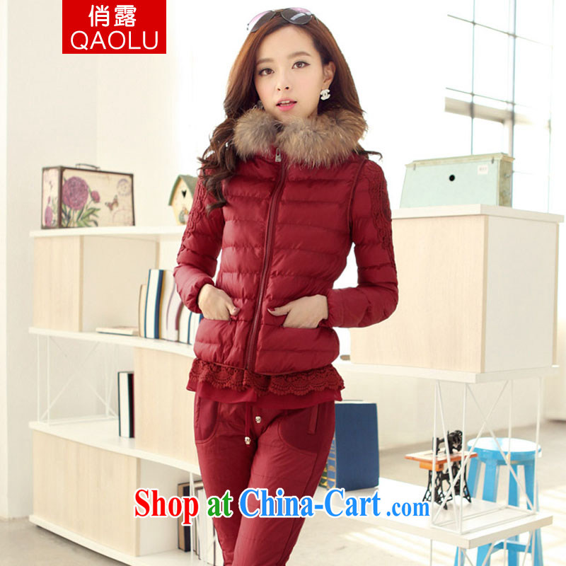 To terrace 2014 winter clothing Korean female, long, cultivating cotton quilted coat serving thick parka brigades