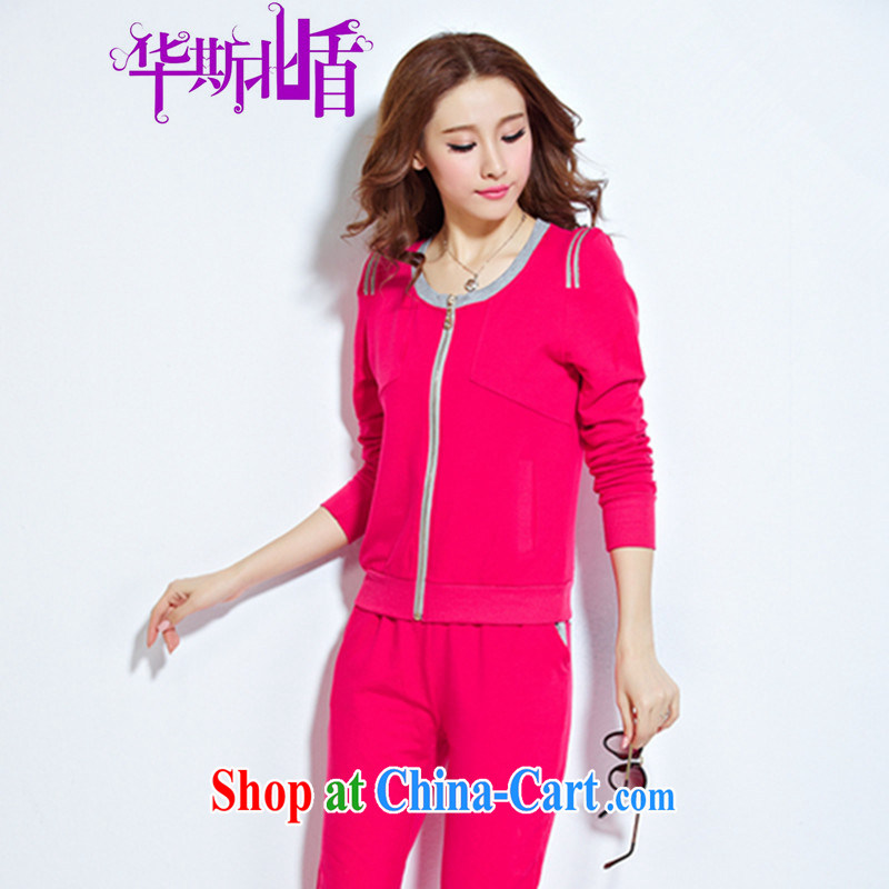 Spring Korean Beauty graphics thin style sweater casual two-piece new cardigan sweater stylish package of red XXL
