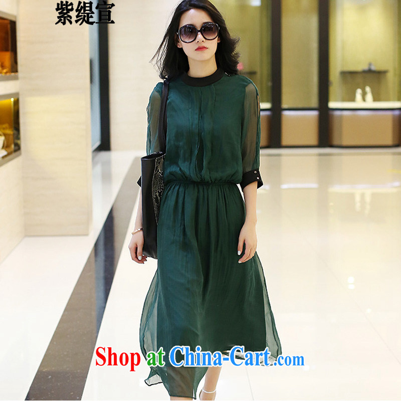 First and foremost as the sun in Europe and indeed the code female summer new thick mm video thin-waist snow woven dresses long skirts 1952 _3 XL recommendations 150 - 160 jack