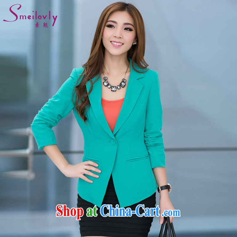 Director of XL girls with thick mm 2014 autumn and winter New Style 100 to ground and stylish Korean sweet commute small jacket the aging mandatory, 5005 green 4 180 XL about Jack