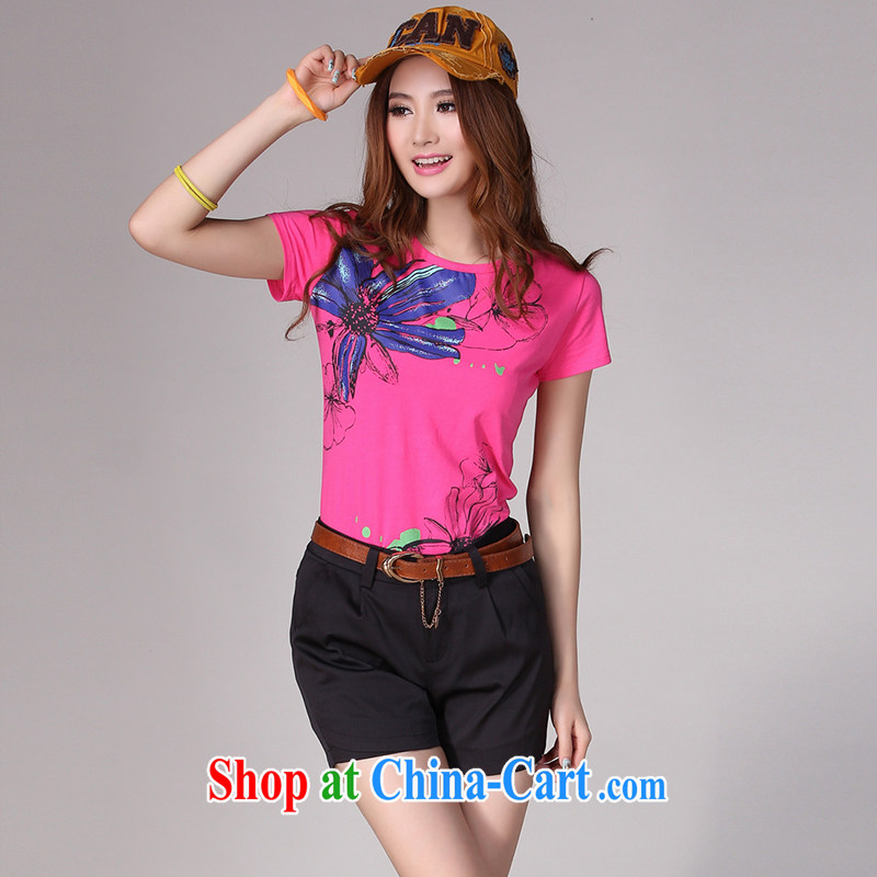 JK .,200 mm thick summer wear the Code women increase Korean commute video thin loose shorts K 13,001 black 6 XL