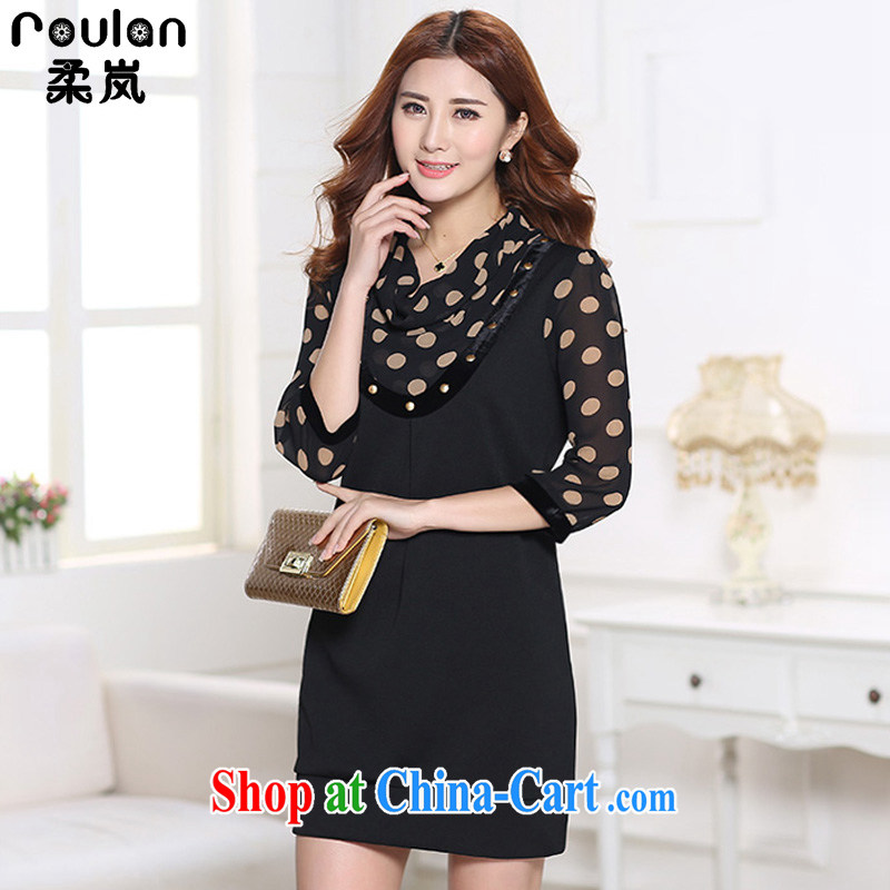 Sophie was indeed the XL women mm thick 2015 spring and summer with new women the new explosions, Korean version long-sleeved video thin snow-woven dresses women 3070 wave 7 point XL, Sophie (ROULAN), shopping on the Internet