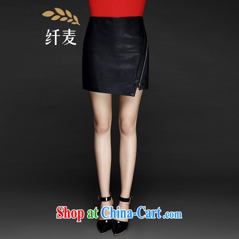The wheat high-end large Code women fall 2014 with new expertise in Europe and MM Not Rule body skirt 843252040 black 6 XL