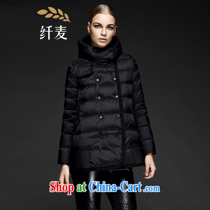 The wheat high-end large Code women fall 2014 with new expertise in Europe and MM stylish, classy jacket 844122042 black 3 XL