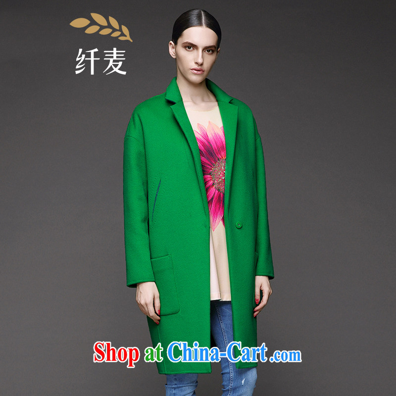 The wheat high-end large Code women fall 2014 with new expertise in Europe and MM minimalist atmosphere jacket 844181072 green 6 XL