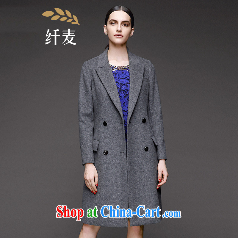 The wheat high-end large Code women fall 2014 with new expertise in Europe and MM stylish. jacket 844181074 dark gray 5 XL