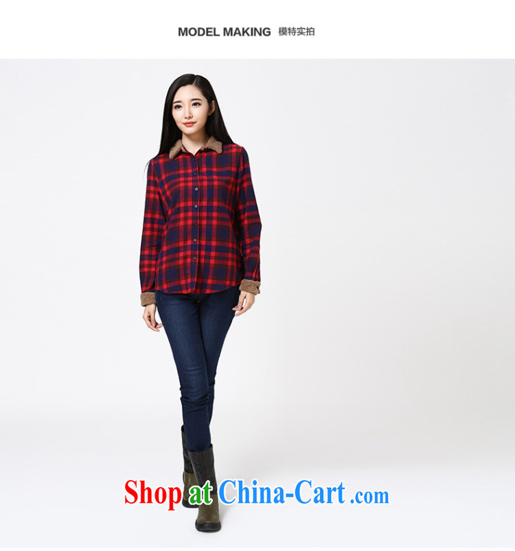 Water of Korean version of the greater code female cotton checkered shirt early autumn 2014 new sweet long-sleeved shirt S DC 14 4258 blue and red grid L pictures, price, brand platters! Elections are good character, the national distribution, so why buy now enjoy more preferential! Health