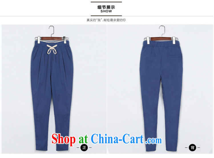 The ink marks spring 2015 new Korean version the code female graphics thin, Trouser Press castor pants cotton pants the thick MM loose ground 100 linen pant apricot 5 XL pictures, price, brand platters! Elections are good character, the national distribution, so why buy now enjoy more preferential! Health