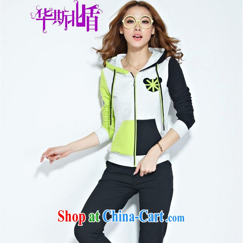 2014 new stylish package women who clothing sweater girl spring Leisure package Korean autumn pants thin black XXL