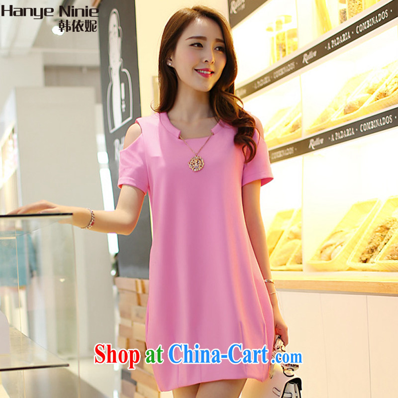 In accordance with South Korea Connie 2015 female new summer the Code women video thin beauty dress 1130 pink XXXXL