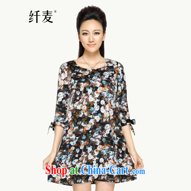 Slim, Mr Big, women fall 2014 with new thick mm stylish cuffs bowtie flowers dress 5 43,276 XL
