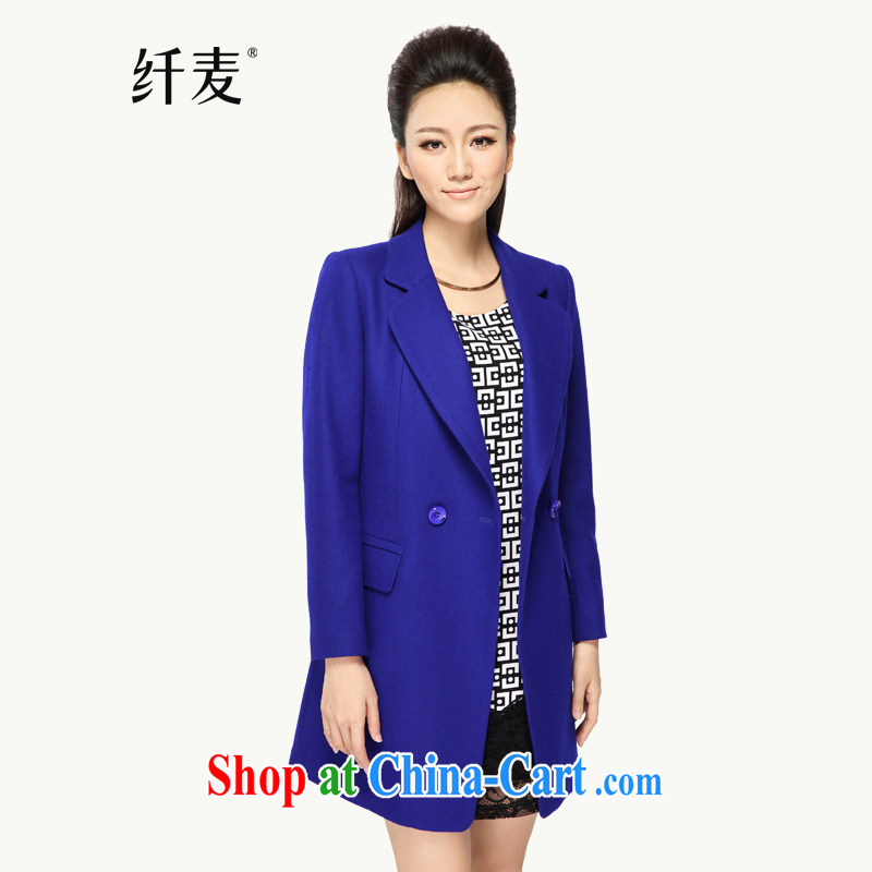 Slim, Mr Big, female 2014 autumn and winter with new thick mm stylish Korean version lapel long-sleeved? The jacket 43,236 blue 3 XL