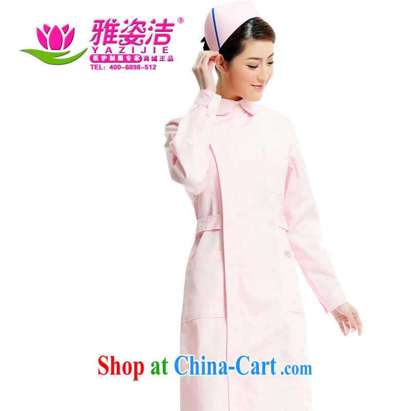 Beauty, dirty Nurses Service Warranty 5-Year not with the ball on the bottom with white Pink Blue green long-sleeved winter clothing robes lab beauty Pharmacy service JD 13 pink XXL