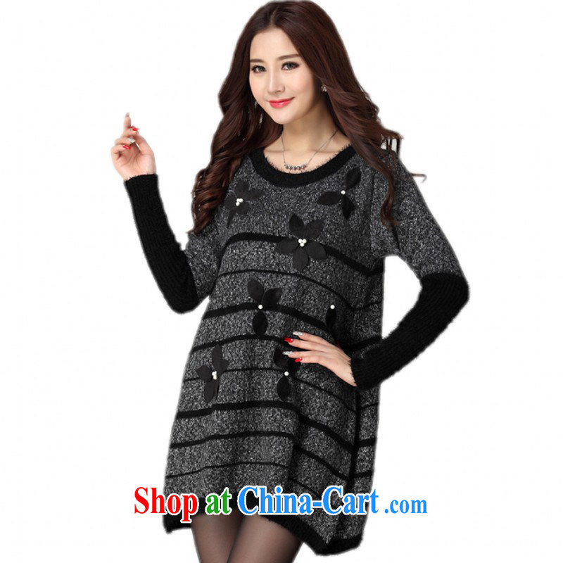 The delivery package as soon as possible by the obesity mm sweater skirt fall 2014 winter clothing relaxed beauty, knitted dresses XL Sweater Knit long gray are code for 130 - 190 jack