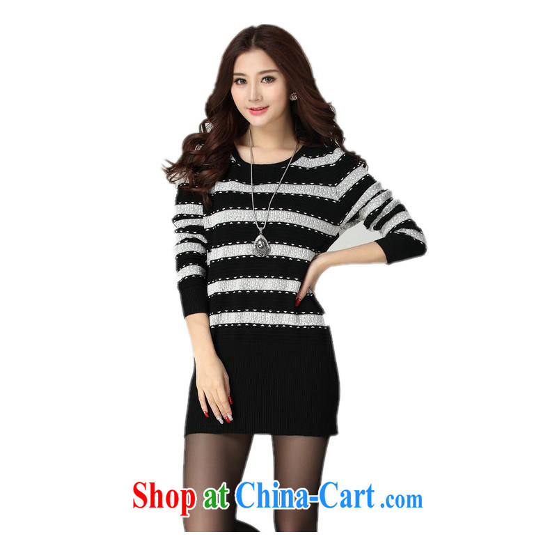 The delivery package as soon as possible e-mail the ventricular hypertrophy, knitted sweater Korean streaks spell color bat long-sleeved knitted bags and sweater video thin round-collar solid black-and-white bar code is about 30 - 190 jack