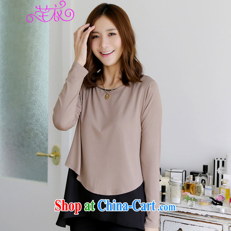 Constitution, indeed, XL T shirt, new elements in Europe and leave two-piece 4 quarter Loose Fit T-shirt version knocked long-sleeved brown knit-mm thick solid T-shirt coffee can be reference brassieres option code or advisory service